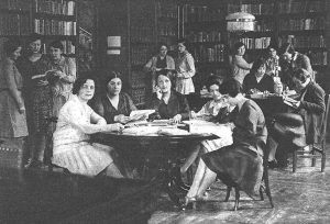 biblioteca de la residencia de las señoritas madrid años 30