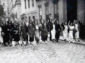 Manifestación de mujeres republicanas, Madrid 1934